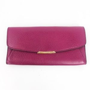 COACH Berry Pink Large Fold Wallet EUC